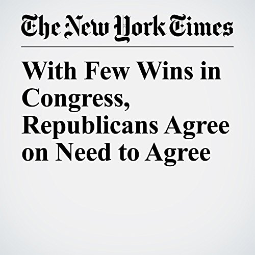 With Few Wins in Congress, Republicans Agree on Need to Agree copertina
