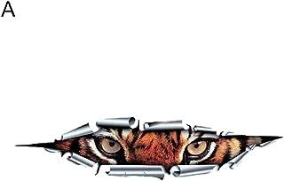Finance Plan Funny Car Styling 3D Tiger Eagle Eyes Peeking Voyeur Sticker Waterproof Decal
