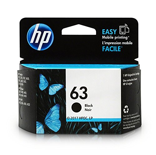 HP 63 | Ink Cartridge | Black | Economy Size | 1VV45AN