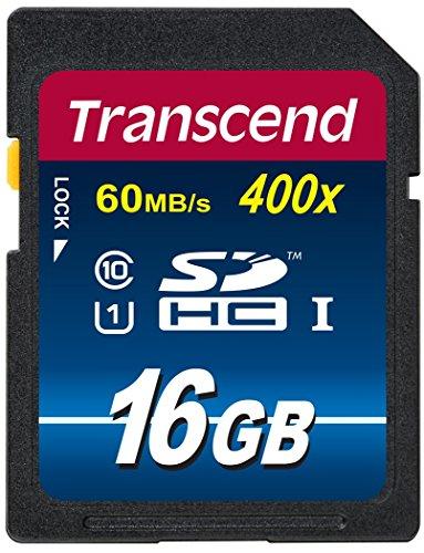 【Amazon.co.jp限定】Transcend SDHCカード 16GB Class10 UHS-I対応 400× (最大転送速度60MB/s) TS16GSDU1P...