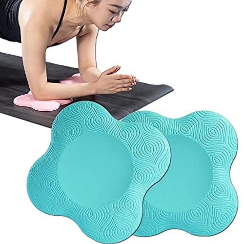 Lumanby Rodillera de yoga portátil para yoga, codera, alfombrilla de yoga antideslizante para mujer, soporte de rodillas de 20 cm, para rodillas, manos, muñecas y codos