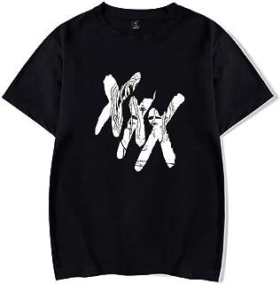 記念シャツ Tシャツ XXXTentacion インナーシャツ おしゃれティーシャツ メンズファッション uネック 半袖 夏服 ギフト 誕生日プレゼント