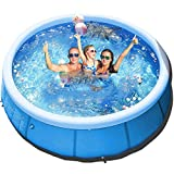 WDERNI 10ft x 30in Quick Set Inflatable Above Ground Pool Easy Set Kiddie Pools Inflatable Pool for Family