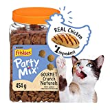 Purina Friskies Party Mix Cat Treats; Naturals Gourmet Crunch - 454 g Canister