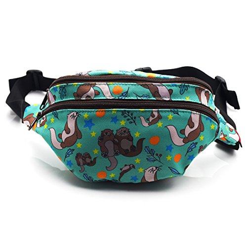Otter-Tasche, Gürteltasche, Hüfttasche, Bauchtasche, aus Leinenstoff., Otters