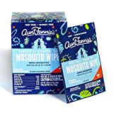 Aunt Fannie's - Mosquito Repellent Wipes - DEET-Free - Indoor/Outdoor Protection (Single Pack) (10 Wipes)