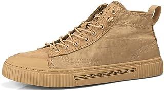 Scarpe da Uomo in Tela Sneakers Alte Casual Leggere Sneakers estive Traspiranti Sport Antiscivolo Scarpe da Skateboard per...