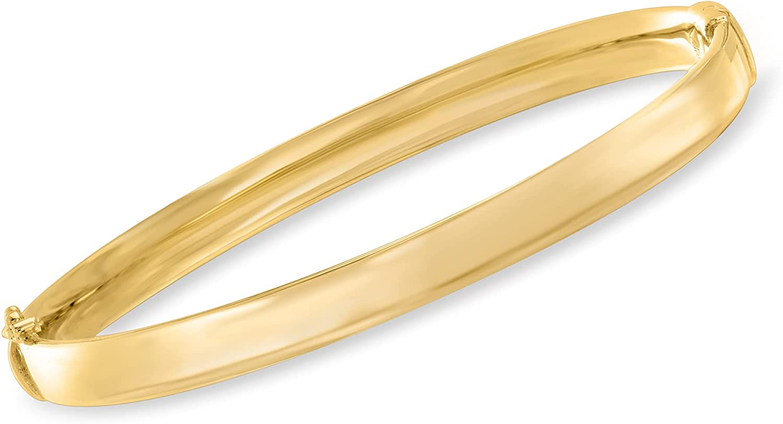 Ross-Simons 18kt Gold Over Sterling Polished Bangle Bracelet