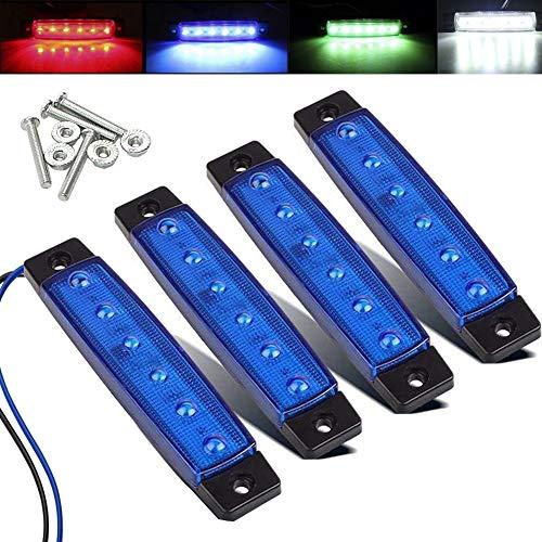 Electrely LED-Indikator Seitenmarkierungsleuchten vorne hintere Seite Lampe Position12V für Anhänger,LKW,Wohnwage,Wohnmobile,Van,LKW,Bus, Boot,Traktor (Blau)