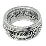 King of Coin Rings Handmade From a 1921 US Morgan Silver Coin Size 9