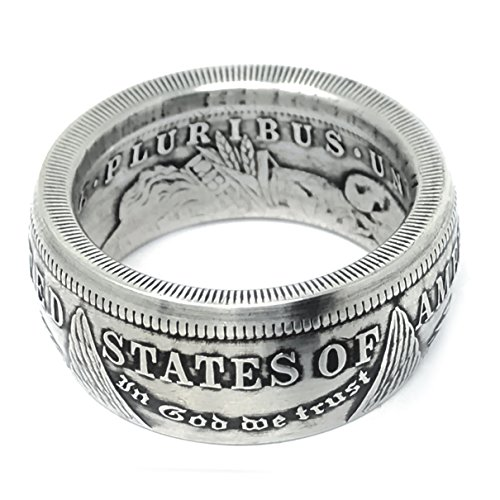 King of Coin Rings Handmade From a 1921 US Morgan Silver Coin Size 12
