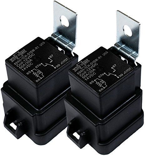 Song Chuan 898H-1CH-D1SW-R1 12VDC Automotive Relay, 50A, 12VDC, Form 1C, Weatherproof (Pack of 2)