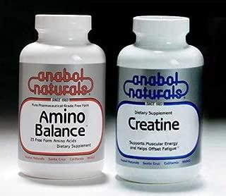 Anabol Naturals Energy Stack: Amino Balance 300 gram pure powder & Creatine 300 gram pure powder (3 month supply)