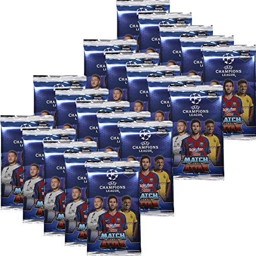 Topps Champions League 2019/20 - Trading Cards - 20 Booster - Deutsch