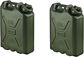 Scepter BPA Durable 5 Gallon 20 Liter Portable Water Storage Container, Green (2 Pack)