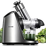 AICOOK Juicer Machines, 3in Large Feed Chute, Stainless Steel Slow Masticating 200W Easy to Clean,...