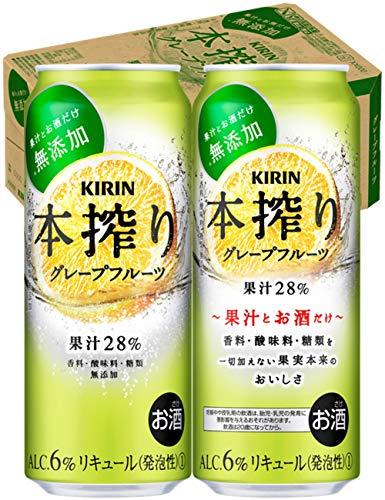【香料・酸味料・糖類無添加】キリン本搾りチューハイ グレープフルーツ 500ml×24本