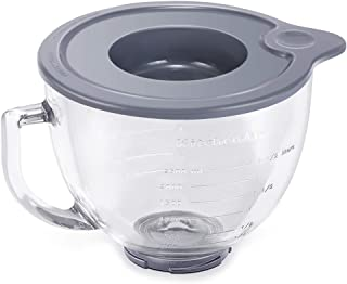 Tight-Sealing Lid, Bowl Covers for Tilt-Head Stand Mixers, Glass Bowl Cover for KitchenAid K5GB 5-Qt 5-Quart Tilt-Head Glass Mixing Bowl Lid (Mixer Bowl not Included)