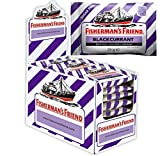 Fisherman's Friend Blackcurrant Menthol Flavour Lozenges with Sweeteners 25g x Case of 24 by Fishermans Friend