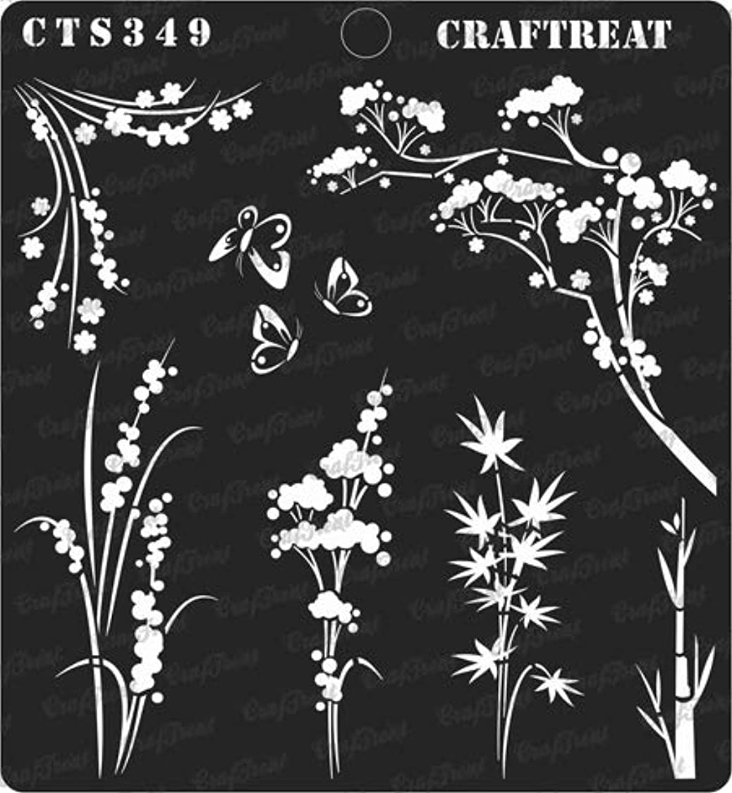 CrafTreat Stencil - Wild Flowers | Reusable Painting Template for Journal, Notebook, Home Decor, Crafting, DIY Albums, Scrapbook and Printing on Paper, Floor, Wall, Tile, Fabric, Wood 6