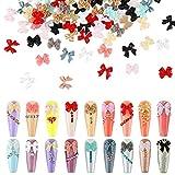 240 Pieces 3D Bow Nail Art Decorations 3D Bows Nail Charms Resin Bow Nail Decorations Colorful Bowknot Nail Accessories for Nail Art Designs Nail Decoration DIY Crafting