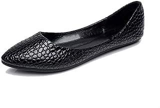 Vrouwen Lederen Schoenen Puntschoen Split Geklets Casual Flats Plus Size Herfst Vrouwelijke Slip Ballet Dames Loafers Scho...