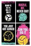 Damdekoli Volleyball-Poster, 27,9 x 43,2 cm, Set