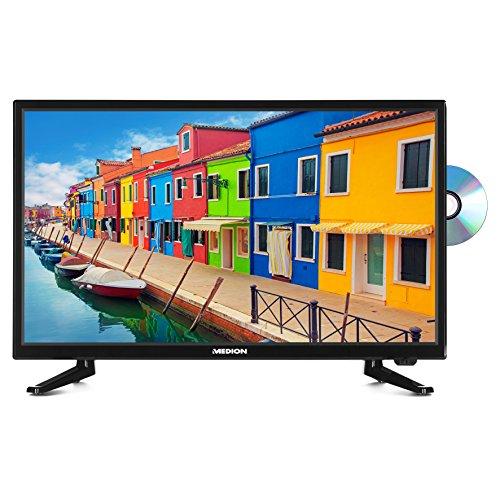 Medion LIFE P12310 54,6 cm (21,5 Zoll Full HD) Fernseher (LCD-TV, Triple Tuner, DVB-T2 HD, HDMI, CI+, USB, Mediaplayer, DVD-Player) schwarz