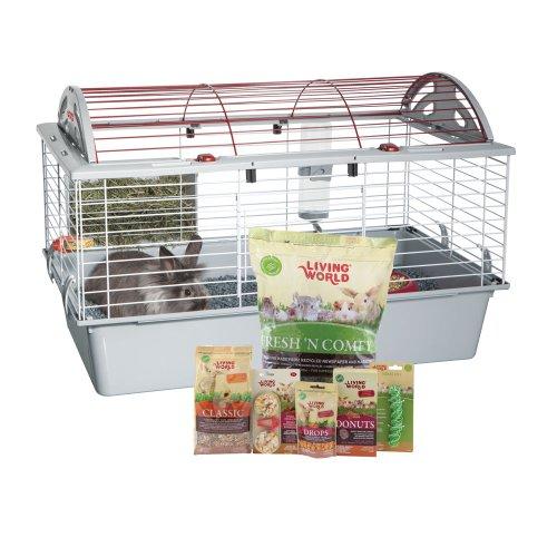Living World Deluxe Rabbit Starter Kit, 78cm L x 48cm W x 50cm H (30.7-Inch x 18.9-Inch x 19.7-Inch)