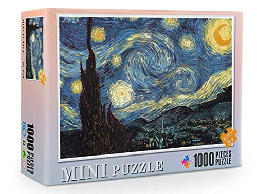 Zunbo-Puzzle Classici 1000 Pezzi, 70 * 50cm, Bambini/Adulti, Fai-da-Te, Tempo Libero (Notte Stellata, Vincent Van Gogh)