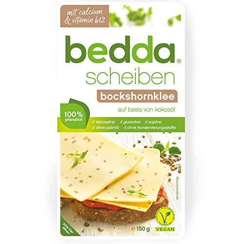 bedda - SCHEIBEN Bockshornklee 150g Vegane Käsealternative Mit Viel Bockshornklee