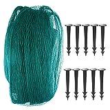 ANSUG Teich-Abdecknetz, Teich-Netting-Gartenfisch-Teich Garten Teichnetz Schützt Sich gegen Laub mit 8 Stück Pegs (4x6m)