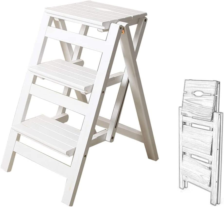 Phoenix Mall CGF-Stands 3 Step Stool Folding Ladder Wooden Kitchen Selling rankings