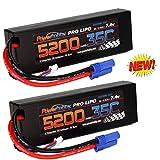 Powerhobby 2s / 2-Cell 7.4v 5200mah 35c Lipo Battery w EC5 Plug 2-Cell (2 Pack)