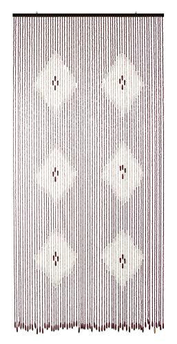 VERDELOOK Tenda in Legno, 120x240 cm, Fantasia Rombi Chiari, Fili 80