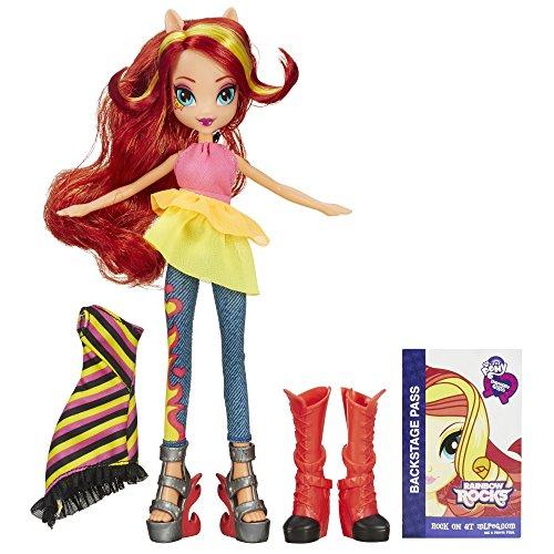 My Little Pony – Equestria Girls : Rainbow Rocks – Sunset Shimmer – Poupée 23 cm + Accessoires Mode