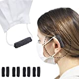 HTGT Ear Savers for Masks Earloop Covers Protectors Strap Extender Guard Protection - Cotten Mask Ear Cushions Saver Anti Pain Adjustable Reusable Retainer for Women Glasses Sunglasses 4 Pairs