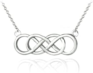 Best sterling silver double infinity necklace Reviews