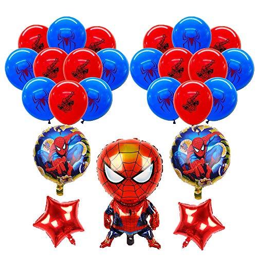 smileh Decorazioni di Compleanno Spiderman Palloncini Spider Man Compleanno Palloncini in Alluminio per Bambini Decorazione per Feste
