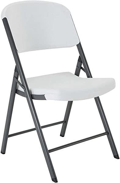 Lifetime 22804 Classic Commercial Folding Chair White Granite 1 Pack