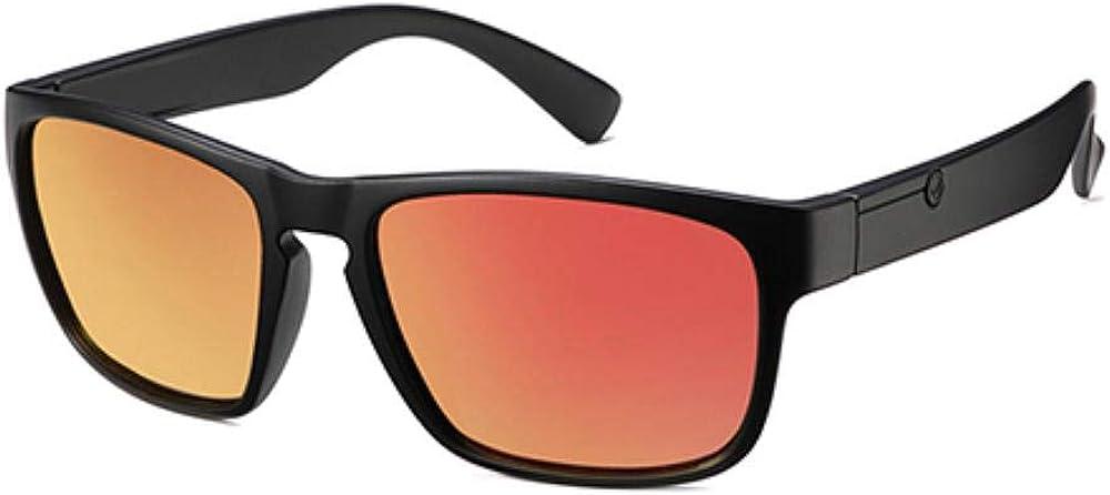 Lunettes de soleil polarisées pour hommes en plastique Oculos De Sol Men's Fashion Square DrivingEyewear Travel Sun Glass C6 Matte Red