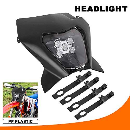 Scheinwerfer für Motorrad, Tagfahrlicht für 2018 K.T.M EXC250 SX250 SXF250 EXC450 SX350 SXF450 EXC525 640LC4 Dirt Bike, Motocross, Enduro, Supermoto, schwarz