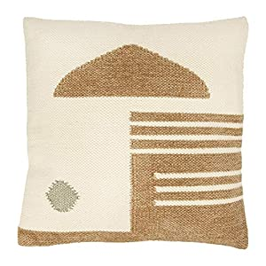 Perfect for an eccentric home Has a gold geometric design Goes well with other neutrals Both cute and comfortable 20""