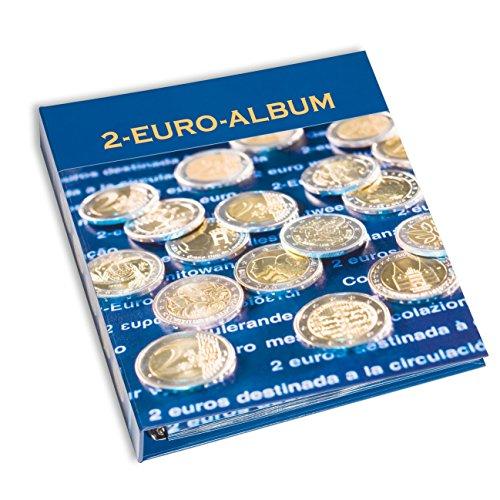 Leuchtturm 348088 2-Euro-NUMIS Vordruckalbum Band 5 |Münzalbum 2 Euro Gedenkmünzen | Für europä. Münzen 2015, Gemeinschaftsausg. 30 Jahre EU-Flagge