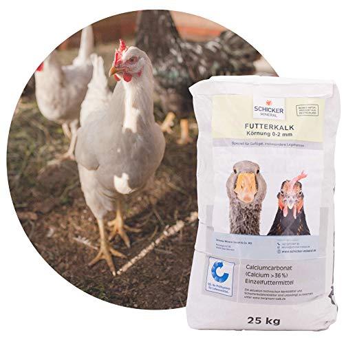 Schicker Mineral Kohlensaurer Futterkalk 0-2,0 mm grob, im 25 kg Sack - für Geflügel