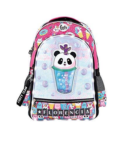 Footy - Mochilas Escolares para Niñas | Mochila con Dibujos de Panda para Infantil y Preescolar | Varios Compartimentos | Personalizable - Pon Tu Nombre con Las Letras