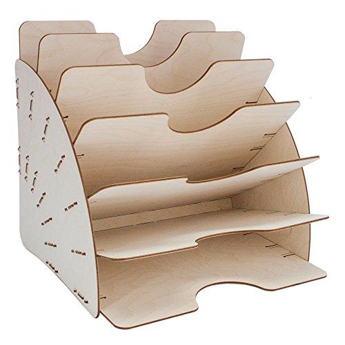 myORGA no.1 Dokumentenablage, Zeitschriftenablage und Ablagefächer für Schreibtisch und Büro aus Holz