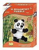 Mammut 156011 - Puzzle 3D con diseño de Panda y Animales de Safari, Juego Completo con Piezas de Puzzle e Instrucciones (Idioma español no garantizado)