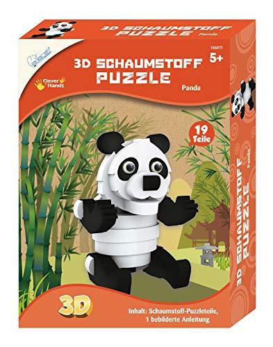 Mammut 156011 - Bastelset 3D Puzzle Panda, Puzzlespiel mit Safari Tieren, Tierpuzzle aus Schaumstoff, Komplettset mit Puzzleteilen und Anleitung, Kreatives Puzzleset für Kinder ab 5 Jahre