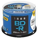 ビクター(Victor) 1回録画用 BD-R VBR130RP50SJ2 (片面1層/1-6倍速/50枚) ホワイト